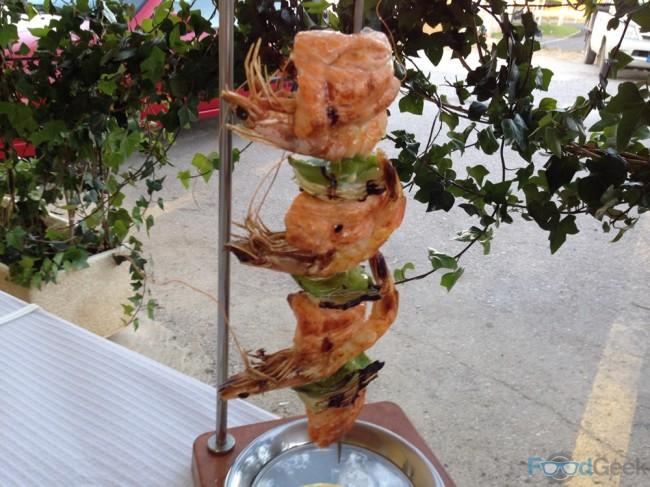 Prawn & Salmon Kebab