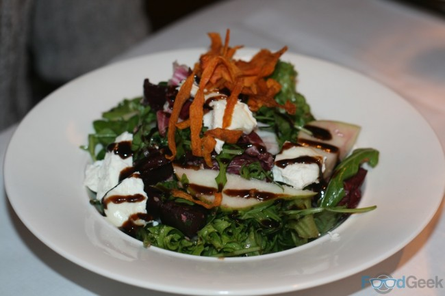 Goats Cheese, Pear & Beetroot Salad
