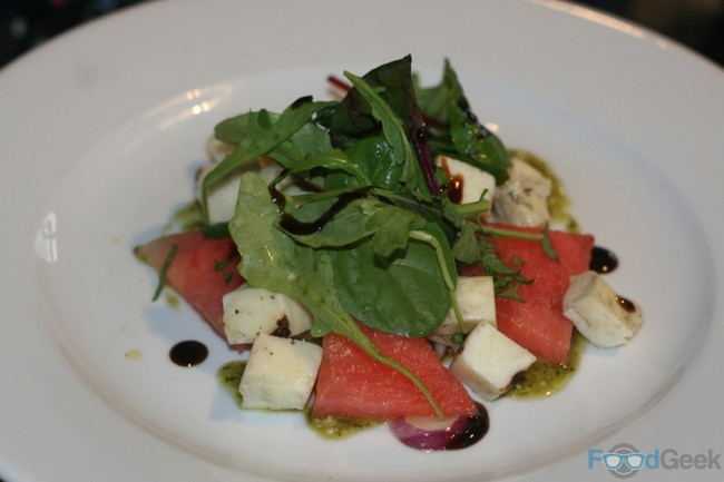 Grilled Halloumi and minted watermelon salad