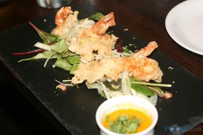 Panko breaded Tiger prawns