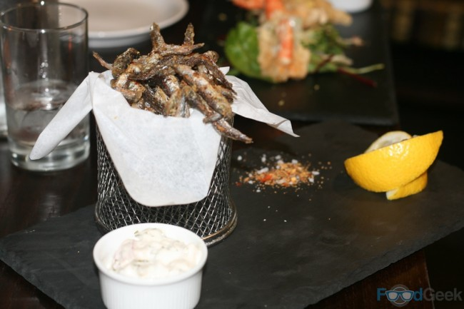 Crispy spiced whitebait with lemon