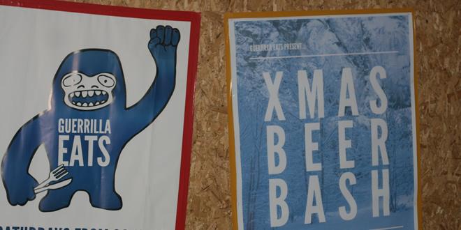 Guerrilla Eats – Xmas Beer Bash 2014, Ancoats, Manchester