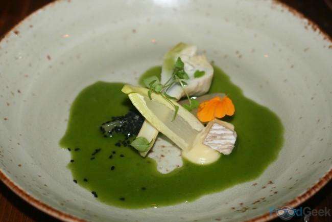 Artichoke, Pickled Pear, Blue Cheese