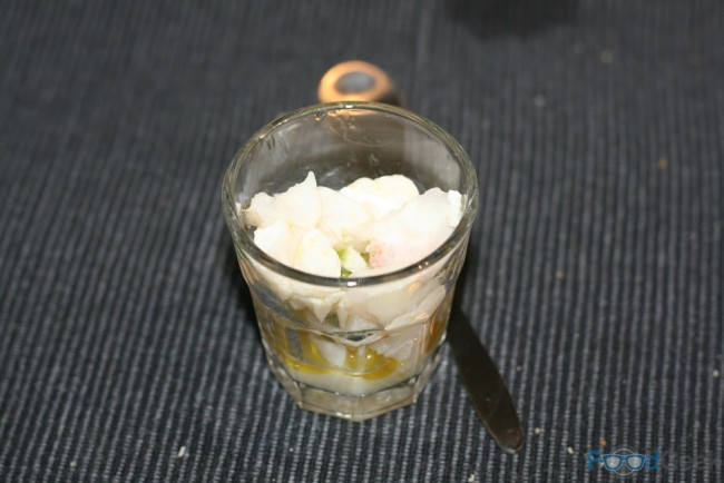 Cod cheek ceviche