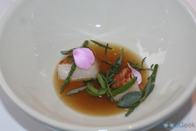 Scallop, Langoustine Consomme