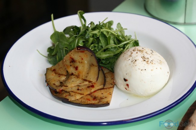Aubergine and Burrata