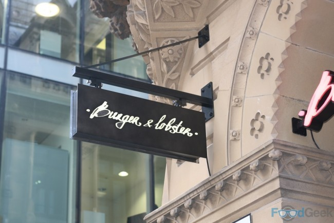 Outside Burger & Lobster Manchester