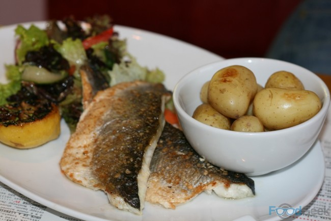 Sea Bass Fillets & Salt Baked New Potatoes