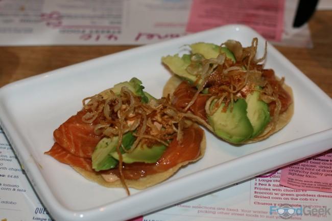 Salmon Sashimi Tostadas