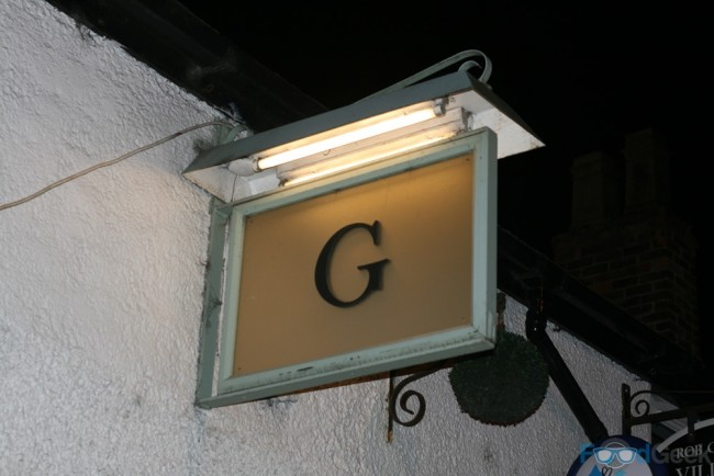 Outside George's Dining Room & Bar, Worsley