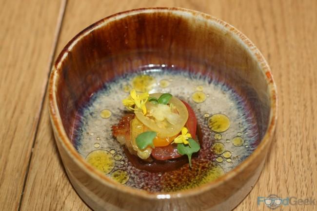 Clams, Mustard Flower, Tomato & Vanilla
