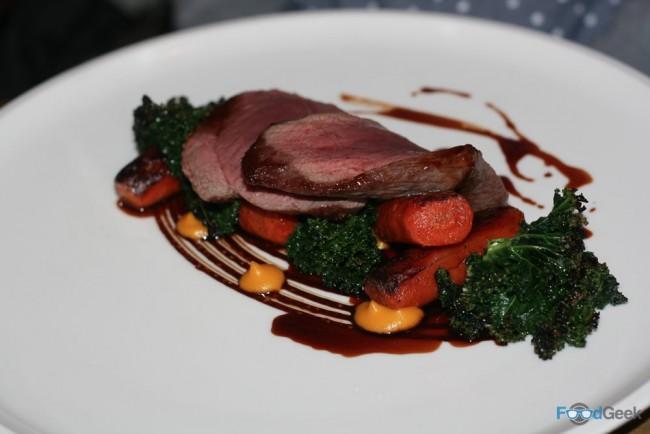 Yorkshire fallow deer, liquorice, carrot & kale