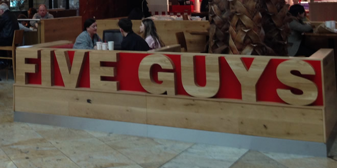 Five Guys, Trafford Centre