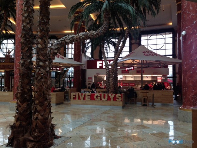 Outside Five Guys, Trafford Centre