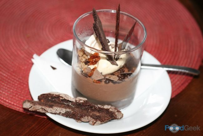 Chocolate Egg Custard Pot