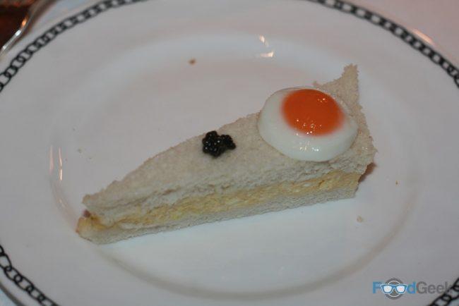 Egg Mayo, Quails Egg & Caviar