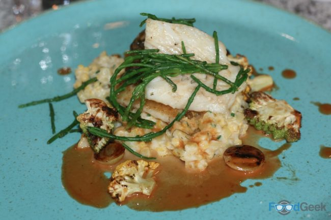 Fillet of Brill, Cauliflower Risotto & Samphire