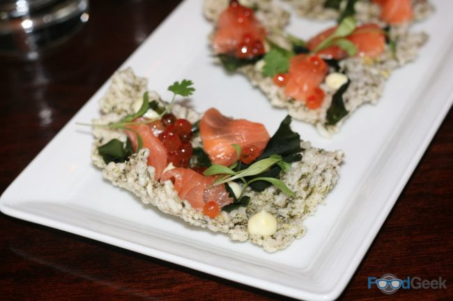 Nori Cracker with Cured Salmon