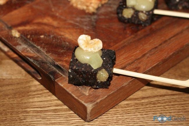 Black Pudding & Apple Canape