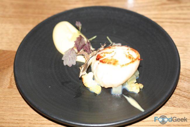 Scallops, Cauliflower & Apple