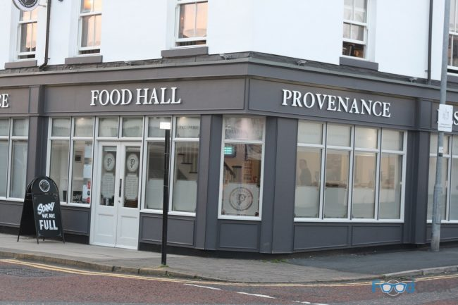 Outside Provenance Food Hall & Restaurant, Westhoughton