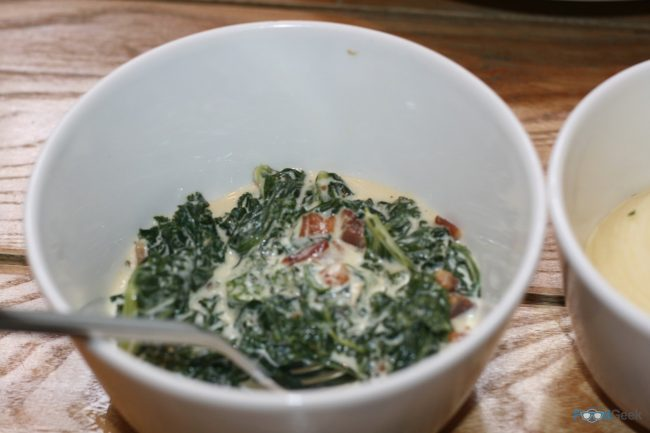 Creamed Kale, Spinach & Bacon