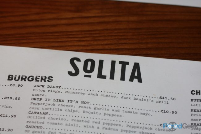Solita Preston Menu