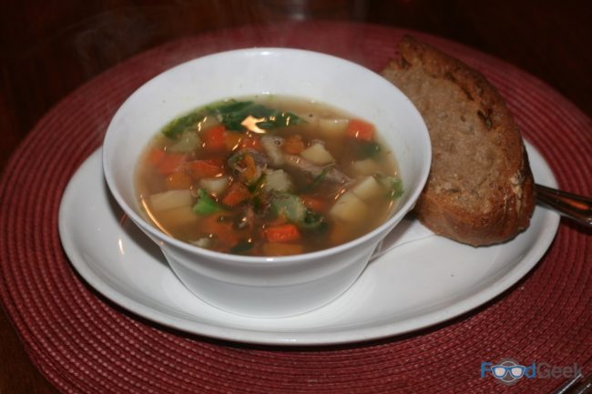 Pheasant & Autumn Vegetable Broth